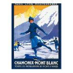 Vintage Chamonix - poster de Mont Blanc Postales