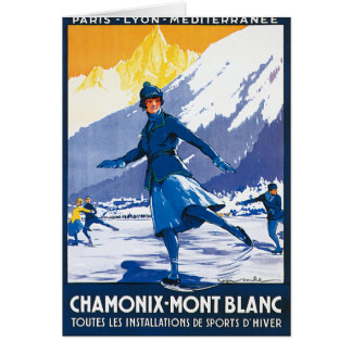 Vintage Chamonix - poster de Mont Blanc Felicitacion