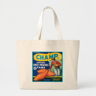 Vintage Champ Brand Sweet Potatoes Ad Jumbo Tote Bag