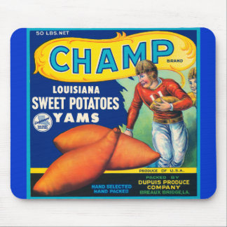 Vintage Champ Brand Sweet Potatoes Ad Mouse Pad