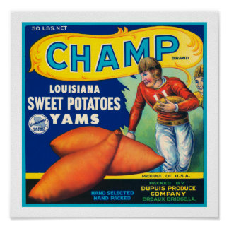 Vintage Champ Sweet Potatoes Print