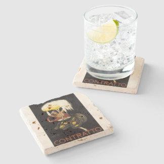 """Vintage champagne art print """"Contratto"""" Stone Coaster"""
