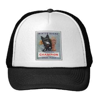 Vintage Champion Spark Plugs Ad Mesh Hats