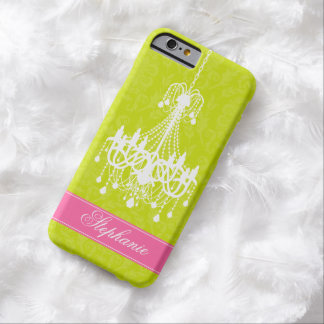 Vintage Chandelier and Damask Pattern Barely There iPhone 6 Case