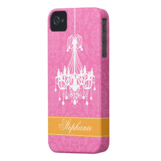 Vintage Chandelier and Damask Pattern iPhone 4 Covers