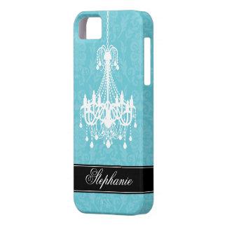 Vintage Chandelier and Damask Pattern iPhone SE/5/5s Case