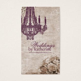 Vintage Chandelier Business Card