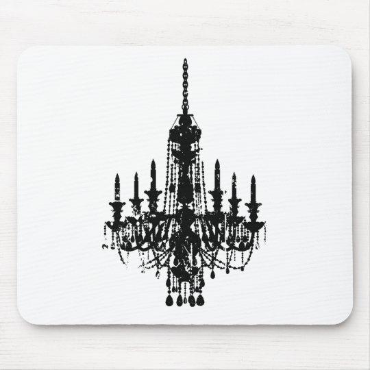 vintage chandelier design mouse pad
