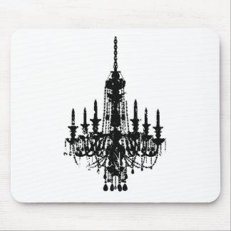 vintage chandelier design mousemats