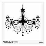 vintage chandelier elegant decorative wall decal