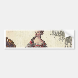 Vintage Chandelier french queen  Marie Antoinette Bumper Sticker