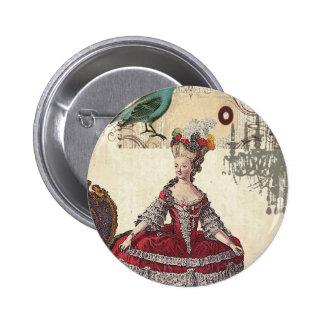 Vintage Chandelier french queen  Marie Antoinette Pinback Button