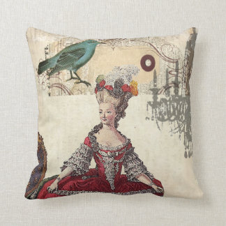 Vintage Chandelier french queen  Marie Antoinette Throw Pillow
