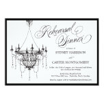 Vintage Chandelier Rehearsal Dinner Invite - White Personalized Invitation