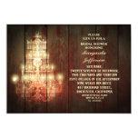 vintage chandelier rustic bridal shower invites