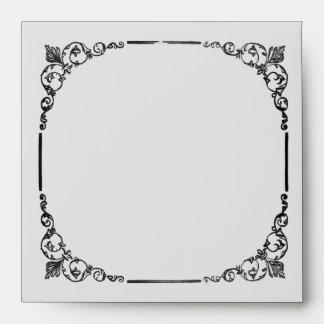 Vintage Chandelier Wedding Envelope