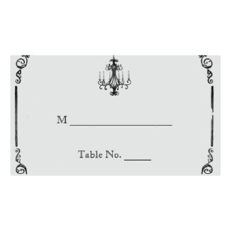 Vintage Chandelier Wedding Place Cards Business Card