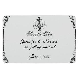 Vintage Chandelier Wedding Save the Date Magnets