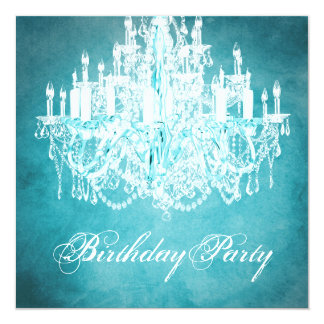 Vintage Chandelier Womans 40th Birthday Party Card