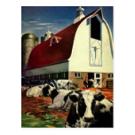 Vintage Change of Address, Dairy Farm Cows Post Card