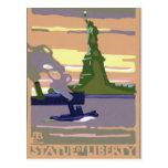 Vintage Change of Address, Statue of Liberty NYC Postcards