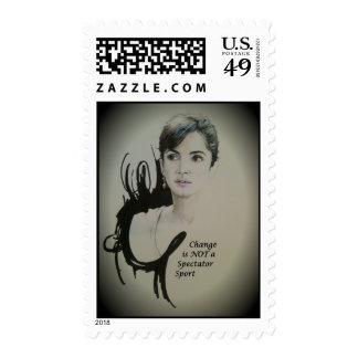 Vintage Change spectator sport postage stamp