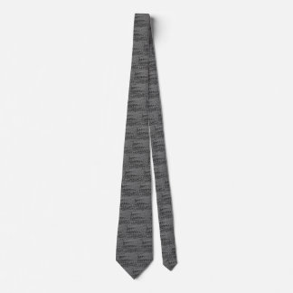 Vintage Charcoal Waves Neck Tie