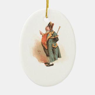 Vintage Charles Dickens Oliver Twist Mr. Bumble Ceramic Ornament