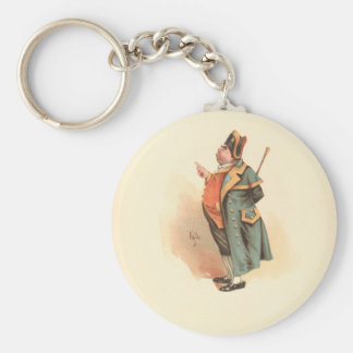 Vintage Charles Dickens Oliver Twist Mr. Bumble Keychain