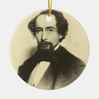 Vintage Charles Dickens Portrait Ceramic Ornament