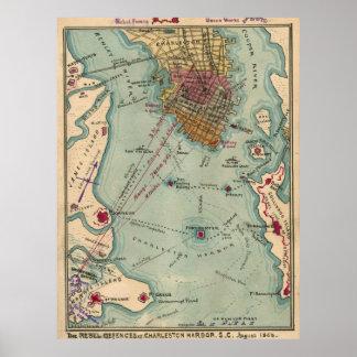 Civil War Posters Civil War Prints Civil War Wall Art - Rustic map of the us in the civil war