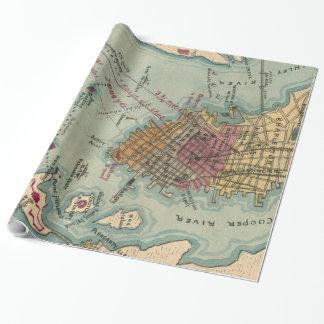 Vintage Charleston SC Civil War Map (1865) Wrapping Paper