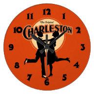 Vintage Charleston Sheet Music Art Wall   Clocks