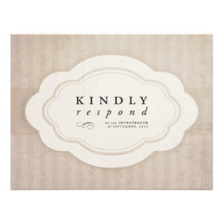 Vintage Charm Cream Response Cards Personalized Invitations