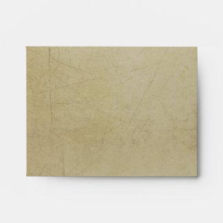 Vintage Charm Ivory & Aubergine Custom A2 Envelope
