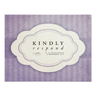 Vintage Charm Lilac Response Cards Personalized Invite