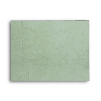 Vintage Charm Sage Green Custom A2 Envelope
