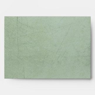 Vintage Charm Simple Sage Green Custom A7 Envelope