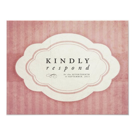 Vintage Charm Strawberry Pink Response Cards