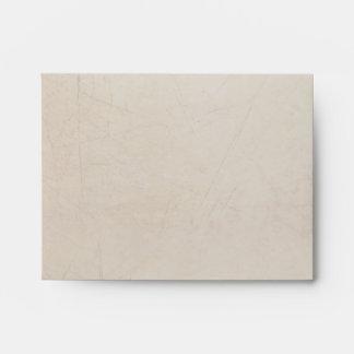 Vintage Charm Striped Cream Custom A2 Envelope