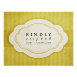 Vintage Charm Yellow Wedding Response Cards Personalized Announcement