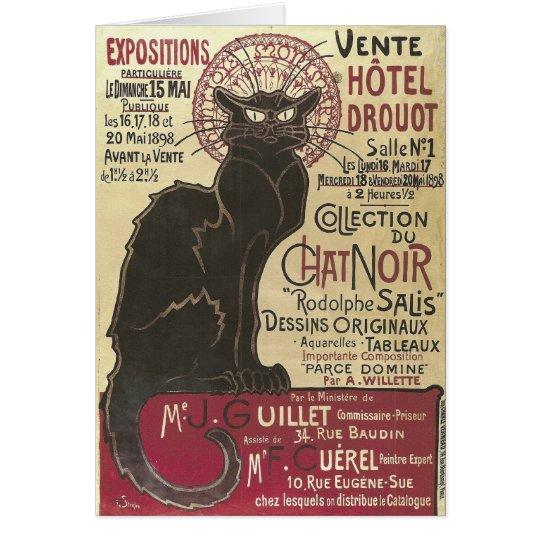Vintage Chat Noir, Vente Hôtel Drouot Steinlen Card