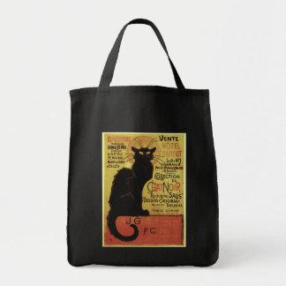 Vintage Chat Noir, Vente Hôtel Drouot Steinlen Grocery Tote Bag