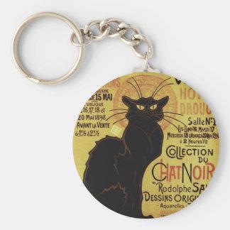 Vintage Chat Noir, Vente Hôtel Drouot Steinlen Key Chains