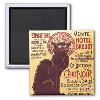 Vintage Chat Noir, Vente Hôtel Drouot Steinlen Refrigerator Magnet