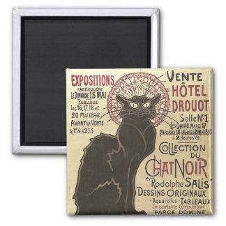 Vintage Chat Noir, Vente Hôtel Drouot Steinlen Magnet