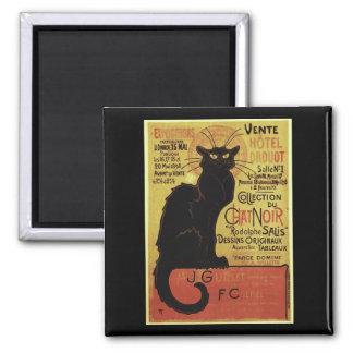 Vintage Chat Noir Vente Hôtel Drouot Steinlen Fridge Magnet