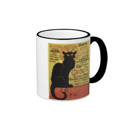 Vintage Chat Noir, Vente Hôtel Drouot Steinlen Mug