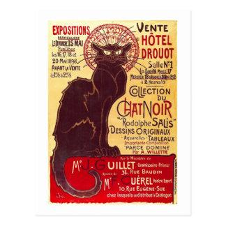 Vintage Chat Noir Vente Hôtel Drouot Steinlen Postcard