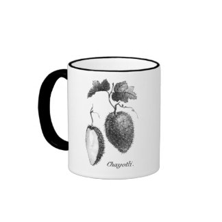 Vintage chayote etching mug